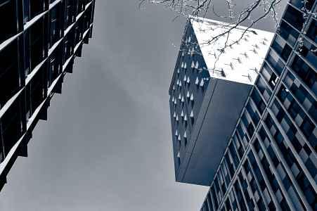 moderne Architektur am Bahnhof in Wien