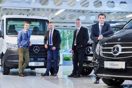 Das Nutzfahrzeug Team von Mercedes AV Hall