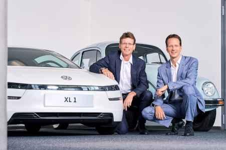 die beiden Vorstaende der Porsche Bank Alexander Nekolar und Hannes Maurer im Portraet