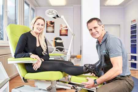 Imagebilder für die Firma Synpharma im Schauraum in Salzburg