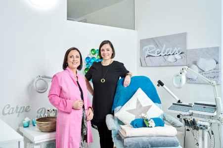 Imagebilder für die Firma Synpharma mit der Inhaberin von Tanjas Beauty Salon in Hallein