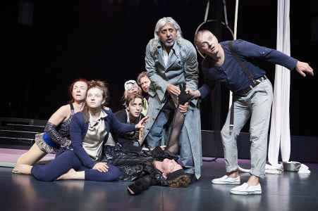 Probenfotos vom Gauklermärchen vom Theater Ecce in der ARGE Salzburg